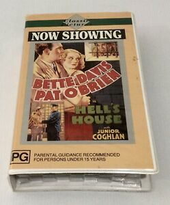 HELL'S HOUSE - BETTE DAVIS, PAT O'BRIEN 1932 VHS Black And White Clamshell