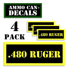.480 RUGER Ammo Can Label 4x Ammunition Case stickers decals 4pack YW MINI