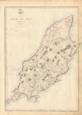 1863 Large Antique Map - Dispatch Atlas- The Isle Of Man