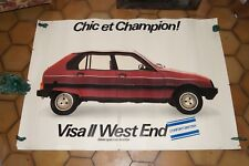 Affiche ancienne concessionnaire CITROEN VISA II WEST END 1980 RSC & G