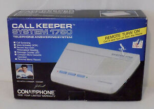 Conair Call Keeper 1750 Telephone Answering System Remote Turn On