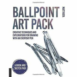 BALLPOINT PEN DRAWING, HOW TO DRAW BOOK AND SKETCHPAD SET