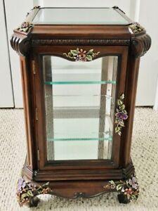 """JAY STRONGWATER 24""""H xm15""""W CORDELIA CURIO Cabinet SWAROVSKI Crystal"""