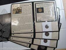 """1-Ancient Roman Coins """"THE GLADIATORS OF ROME"""" 310 B.C. - 440 A.D.  Display& COA"""