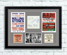 The Rolling Stones Concert Poster Tickets Autographs Memorabilia 60's UNFRAMED