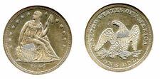 1846-O $1 AU58 NGC-LIBERTY SEATED DOLLAR---