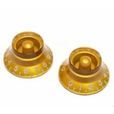 NEW Set of 2 Bell Knobs For Gibson® USA & CTS Split Shaft Pots - GOLD