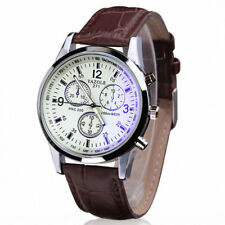 Reloj Deportivo de Lujo para Hombre Militares Analógico Acero Inoxidable Cuero