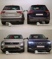 chrom Leisten Stoßstange hintere+ Vorderseite Stoßstange Volkswagen Tiguan 16>