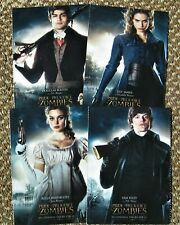 PRIDE & PREJUDICE & ZOMBIES 4 POSTCARDS - EXCELLENT CONDITION!!