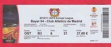 Orig.Ticket   Europa League  2010/11  BAYER 04 LEVERKUSEN - ATLETICO MADRID  !!