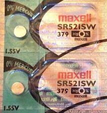 2 x Maxell SR521SW 379 Silver Oxide 1.55v Watch Battery Aussie Stock FastPost