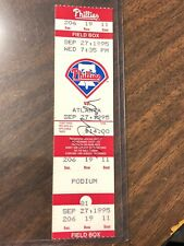Greg Maddux, Signed Full Unused Ticket From Game He Got 150th Win vs Phil COA