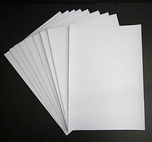 A4 Matte White Vinyl Sticker Paper Waterproof Sheet Inkjet or Laser Printable
