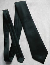 TOOTAL BOYS TIE DARK FOREST GREEN VINTAGE 1960s 1970s MINI MOD AGE 8 - 14