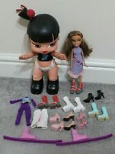 Vintage Bratz dolls as shown baby shoes boots high heels skis clothes job lot