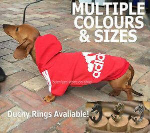 MINIATURE Dachshund Hoodie S/M/L Sausage Dog Clothes Jumper Clothing Winter Pet