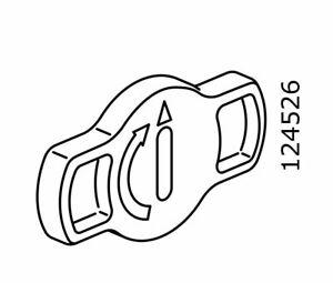 (2) x IKEA # 124526 Plastic Twist Turn Locking Mechanism Grey Replacement Parts