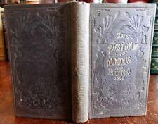 Boston Almanac Mass 1869 city advertising business directory pocket book