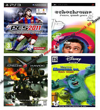 Lotto Giochi PS3 PSP PC - PES 2011 + Monsters & Co + Echochrome + Apache Avoc