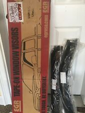 Ford F-150 04-08 EGR Tape-On SlimLine Dark Smoke Front & Rear Window Visors
