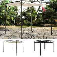 vidaXL Garden Gazebo with Retractable Roof Canopy Outdoor White/Anthracite