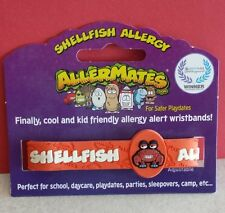 SHELLFISH ALLERGY Child Adjustable Bracelet Wristband Medical Alert