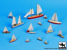Black Dog 1/700 Sailing Boats (with PE Sails) Accessories Set (14 Boats) S70006