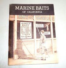 Marine Baits Of California Shrimp Shore Crab Clam Worm Sardine Herring 1964
