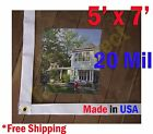 5 ft x 7 ft Clear 20 mil Vinyl Tarp Waterproof Curtain Porch Patio Enclosure