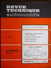 RTA revue technique 257 AUTOBIANCHI PRIMULA FIAT 500