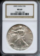 ****2005-S NGC Rated MS69  Silver American Eagle****