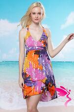 Sexy Para mujeres Vestido Rosa Naranja Azul Floral Playa Verano Cubrir Bikini