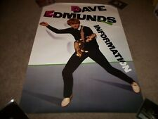 "Dave Edmunds Information 1983 Cbs records Usa Promo Poster 24"" X 36"" Undisplayed"