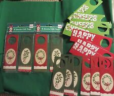 Nwt 2 pgks. of 4 Bottle Gift Tags for Christmas +12 new out of package tags