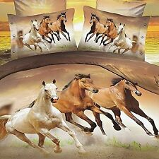 Babycare Pro Galloping Horse 3D Bedding Sets Full Size for Teen Kids Duvet Cover