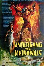 DER UNTERGANG VON METROPOLIS Bella Cortez Original Filmplakat A1 gefaltet