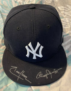 Roger Clemens & Randy Johnson Signed NY Yankees NewEra Hat JSA COA