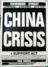 CHINA CRISIS 1991 TOUR CONCERT POSTER
