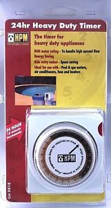 HPM 24hr Heavy Duty Timer for Pool & Spa Motors AirCons Fans Heaters