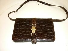 Pochette Céline en croco vintage sac à main ... couture Paris bandouliere