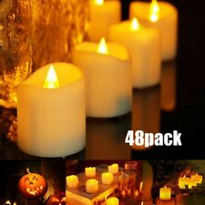 48 Flameless LED Battery Operated Tea Candle Light Flickering Wedding Party Deco