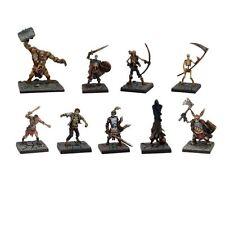 Dungeon Saga: Evil Dead Conjunto de Figuras De Fantasía-no-muertos Miniaturas-Reyes De Guerra