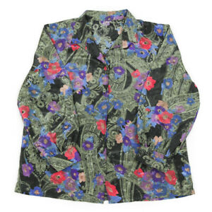 Vintage Silky Floral Shirt | Large | Retro Festival Party Baroque Patterned