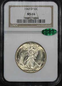 1942-D Walking Liberty Half Dollar NGC MS-66 CAC