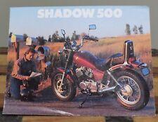 1986 HONDA SHADOW 500 MOTORCYCLE DEALERS SALES BROCHURE