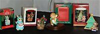 Lot 4 Hallmark Keepsake Ornaments:Stitches of Joy,Owliver,Merry Xmas Mom,Teacher