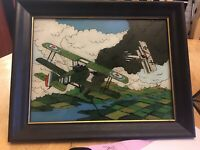 World War Ii Fighter Planes In Sky Glass Painting