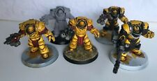 5 X FORGEWORLD CATAPHRACTII TERMINATORS PART PAINTED Imperial Fists - 40K