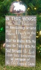LARGE Rustic PRIMITIVE Wood Sign I We Still Believe Amazing Grace Farm FAITH